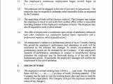 Part Time Employment Contract Template Free Employment Contract Template Peerpex