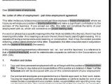 Part Time Employment Contract Template Free Part Time Employment Contract Samples