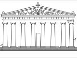 Parthenon Template Parthenon Greece Drawing Coloring Page Google Search