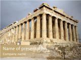 Parthenon Template Parthenon Temple Powerpoint Template Id 0000012108