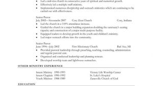 Pastor Resume Sample Pastoral Resume Template Sample Resume Cover Letter format