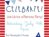 Patriotic Invitation Templates Free Patriotic Party Invitations for Memorial Day 4th Of July or