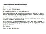 Payment Confirmation Email Template 36 Payment Letter formats