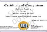 Pdh Certificate Template Certificate Sample1 Jpg Ez Pdh Com