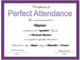 Perfect attendance Certificate Template 13 Free Sample Perfect attendance Certificate Templates