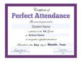 Perfect attendance Certificate Template 16 Sample attendance Certificate Templates to Download