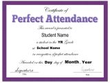 Perfect attendance Certificate Template 2018 Certificate Of attendance Fillable Printable Pdf