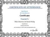Perfect attendance Certificate Template Certificate Templates