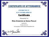 Perfect attendance Certificate Template Perfect attendance Certificate Template Word Excel