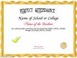Perfect attendance Certificate Template Perfect attendance