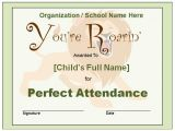 Perfect attendance Certificate Template Perfect attendance Quotes for Employees Quotesgram