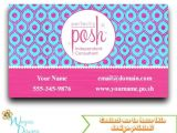 Perfectly Posh Business Card Template Perfectly Posh Business Card Direct Sales Marketing