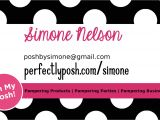 Perfectly Posh Business Card Template Posh by Simone Making My Own Business tools