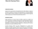 Perfil Profesional Resumen Resumen Perfil Profesional Mary Ann Huancayo Flores