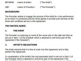 Performance Contracts Templates 12 Artist Contract Templates Pages Word Docs