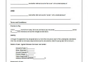 Person to Person Contract Template 45 Loan Agreement Templates Samples Write Perfect