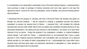 Personal Fitness Contract Template 15 Gym Contract Templates Word Google Docs Apple