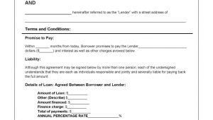 Personal Loan Repayment Contract Template Download Personal Loan Agreement Template Pdf Rtf