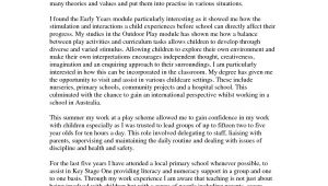 Personal Statement Template for Teaching Personal Statement for Pgce