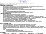 Personal Trainer Contract Templates Personal Training Agreement Sample Templates forms