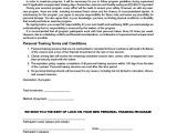 Personal Trainer Contract Templates Training Agreement Contract Sample 13 Examples In Word