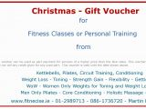 Personal Training Gift Certificate Template Christmas Gift Vouchers Available In south Dublin