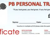 Personal Training Gift Certificate Template Home Gym Equipment