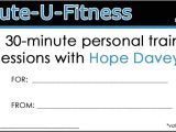 Personal Training Gift Certificate Template Personal Trainer Gift Certificate Template 28 Images