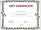 Personalized Gift Certificates Template Free Custom Gift Certificate Template Gift Certificate Templates