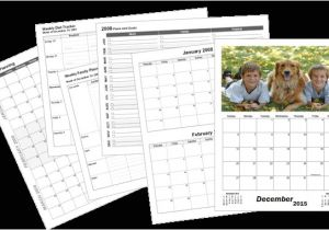 Personalized Photo Calendar Template Large Custom Calendar Template Print Blank Calendars