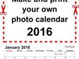 Personalized Photo Calendar Template Photo Calendar 2016 Free Printable Word Templates