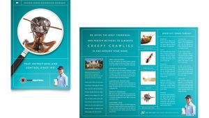 Pest Control Brochure Template Pest Control Services Brochure Template Word Publisher