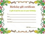 Pet Gift Certificate Template Pet Gift Certificate Template for Birthday Beautiful