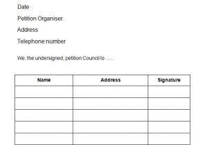 Petition Sign Up Sheet Template 24 Sample Petition Templates Pdf Doc Sample Templates