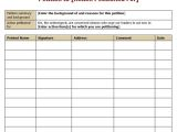 Petition Sign Up Sheet Template 30 Petition Templates How to Write Petition Guide