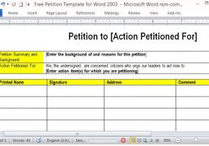Petition Sign Up Sheet Template Free Petition Template for Word