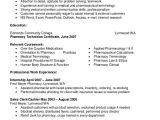 Pharmacy Student Resume Objective Sample Pharmacy Technician Resume 7 Examples In Word Pdf