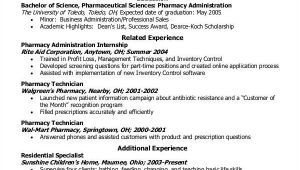 Pharmacy Student Resume Student Resume Example 7 Samples In Word Pdf