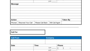Phone Memo Template Phone Memo Template Sample form Biztree Com