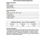 Photo Booth Contract Template Sample Booth Rental Agreement 8 Documents In Pdf Word