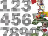 Photo Collage Number Templates 1457 Best Images About Digital Scrapbooking Printables