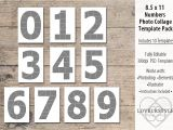 Photo Collage Number Templates 8 5×11 Number Photo Template Pack Templates Creative