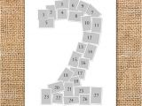 Photo Collage Number Templates Single Number Photo Collage Poster Printable