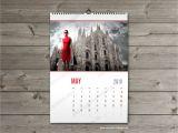 Photo Wall Calendar Template Wall Calendar 2018 Template Monthyly Yearly Wall Custom