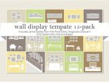 Photo Wall Display Templates Wall Display Template 15 Pack