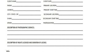 Photographer Contract Templates 22 Photography Contract Templates Word Pdf Apple