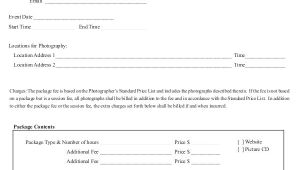 Photographer Contracts Templates 22 Photography Contract Templates Word Pdf Apple