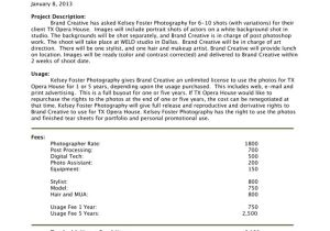 Photography Bid Proposal Template How to Write A Photography Proposal