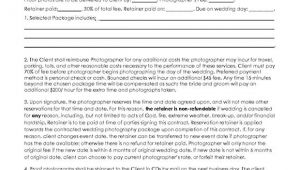Photography Cancellation Contract Template 5 Free Wedding Photography Contract Templates