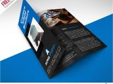 Photoshop Templates for Brochures Creative Agency Trifold Brochure Free Psd Template